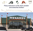 FLEXY™ The Tangle Free Extension Cord NOW Available at Menards!