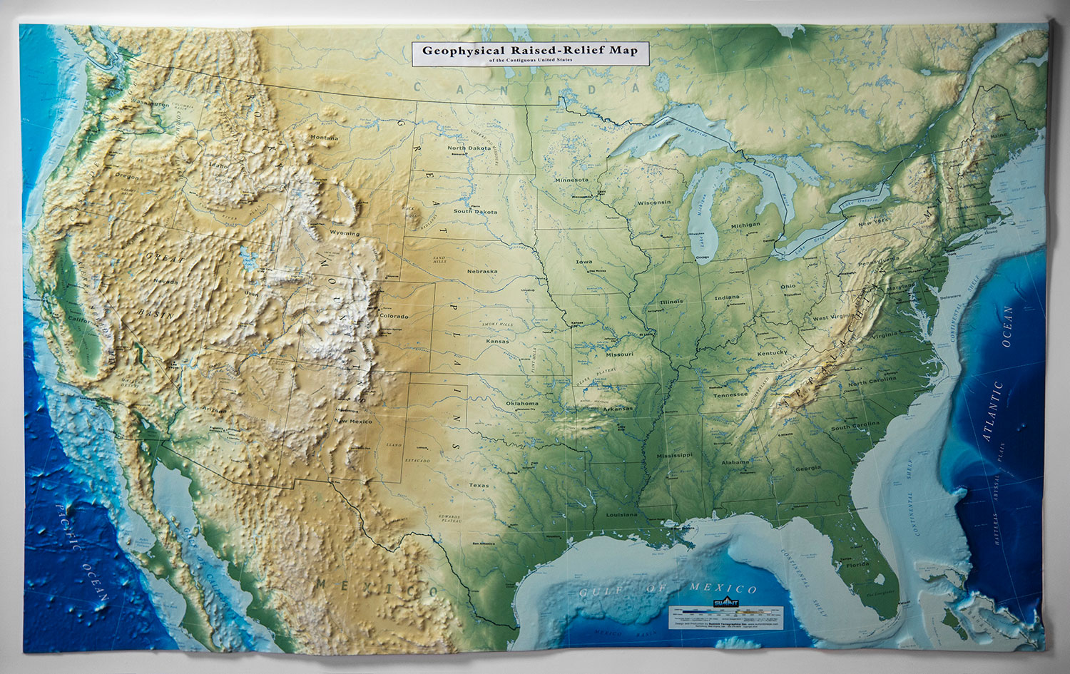 New Customized 3d Us Map Lets Businesses Display Company Specific