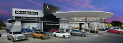 The exterior of the Mercedes-Benz of Arrowhead dealership