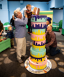 Families help solve the case of the crashed cake at the world's largest children's museum.