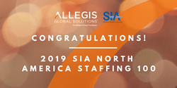 Allegis Global Solutions — SIA North America Staffing 100