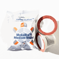 100 Koffee KaKao coffee biobased pods CA Prop 65. Pooki's Mahi® Kona Kafpresso™ made from 100 Kona Coffee injected in 100% recyclable capsules available as a coffee subscription, wholesale coffee club or through VIP distributor reseller.