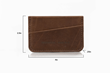 Clyff Wallet — brown leather and dimensions