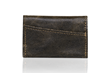 Minemo Wallet — Forest Brown Italian waxed canvas (vegan)
