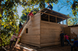 OSU students and other volunteers with Crimson Cup Coffee and Tea build home for Jesús Lazo Lorenzo and his family