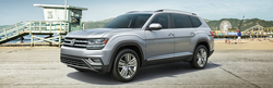 silver 2019 vw atlas parked