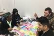 Sierra College students sort ideas during Makermatic team internship activity to define the problems for the business challenge.