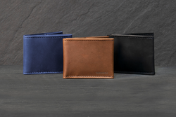 The Stratto — sumptuous leather bifold wallet