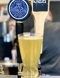 Circle City Kombucha on tap at Crimson Cup Coffee Houses in Columbus and Tallmadge, Ohio