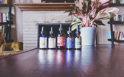 Photo of bottles of the top five CBD oils from CBD Hacker's 2019 CBD oil ranking