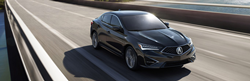 2019 Acura ILX in black on highway
