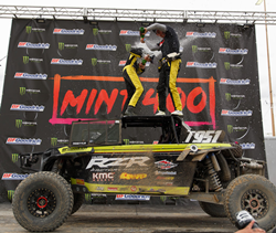 Mitch Guthrie Jr. wins the 2019 Mint 400 UTV Pro Turbo race (Photo courtesy of The Mint 400)