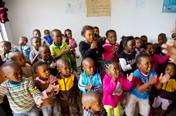 The children at the current Nokwanda Educare Centre