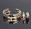 Brookland Jewelry, The Rivette Collection, 18k rose, yellow, and white gold.