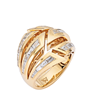 Stephen Webster, Dynamite Bombé Ring, 18k yellow gold and tapered diamond baguettes 1.35 cts.