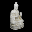 Seated  blanc-de-chine Guanyin by Ming potter He Chaozong fetched $40,000 at Gianguan Auctions in March 2019.