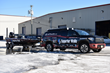 Greg DiPalma truck and boat with Superior Walls sponsorship identification.