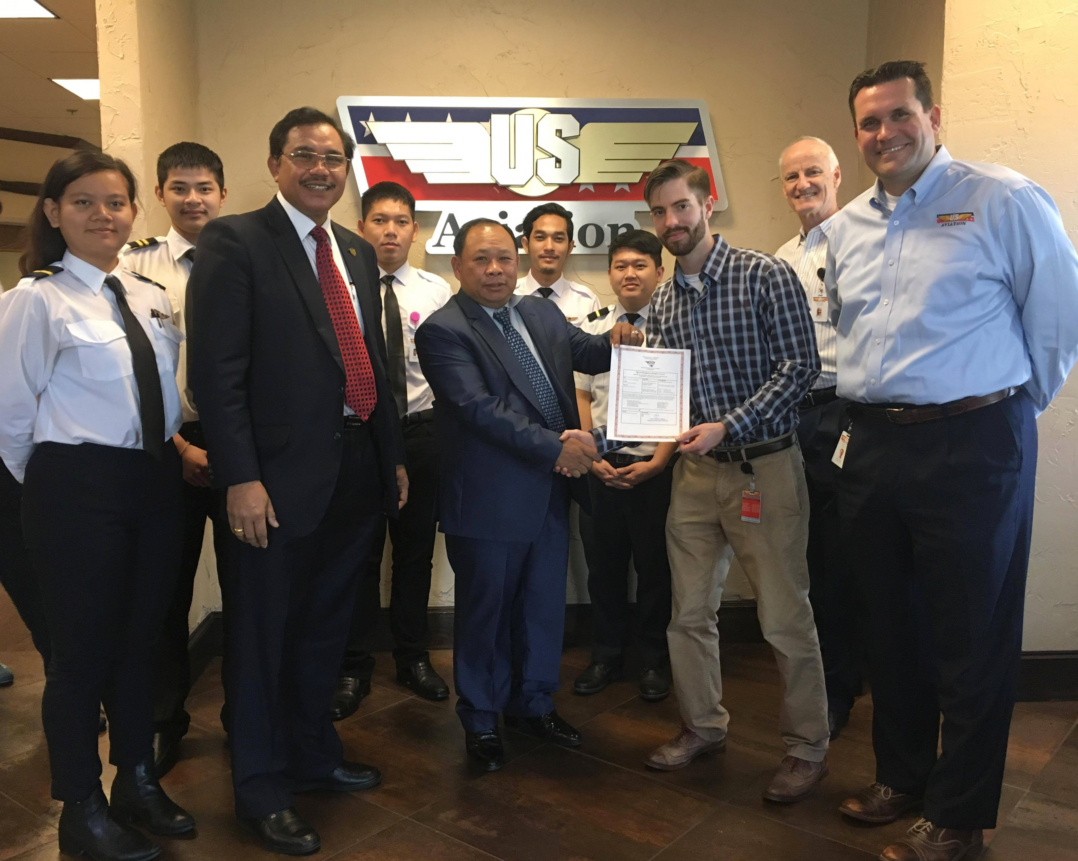 US Aviation Academy Approved as Cambodian ATO
