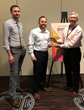 Conor Steadman and Jonathan Babbitt of MTA accept the BMMA Best in Class Provider Award from Ellis Hill of BMMA at the 2019 BMMA Annual Meeting in Charleston, SC.