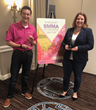 Chris Benzinger of Cincinnati Bell and Kelly Champagne of F-Secure accept the BMMA Best in Class Partnership Award at the 2019 BMMA Annual Meeting in Charleston, SC.
