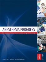 Anesthesia Progress Volume 66 Issue 1