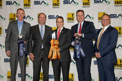 SIA Chairman of the Board Scott Schafer presents the Best New Product Award to IPVideo Corporation