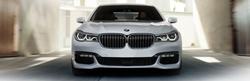 White 2018 BMW 7 Series Front Exterior in a Garage