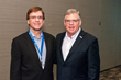 Chris Burand, president, Burand & Associates, with John Tiene, CEO, ANE, Agency Network Exchange. Burand was the keynote speaker at the 2019 ANE annual conference in Princeton, N.J.