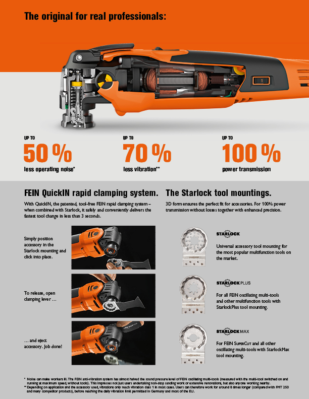 Free Accessories When You Purchase a FEIN Oscillating Multi-tool
