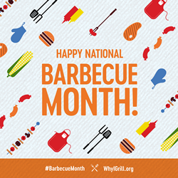 National Barbecue Month graphic