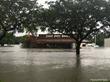 Three Brothers Bakery surrounded by water during hurricane Harvey - Photo credit - Katrina Kidder
