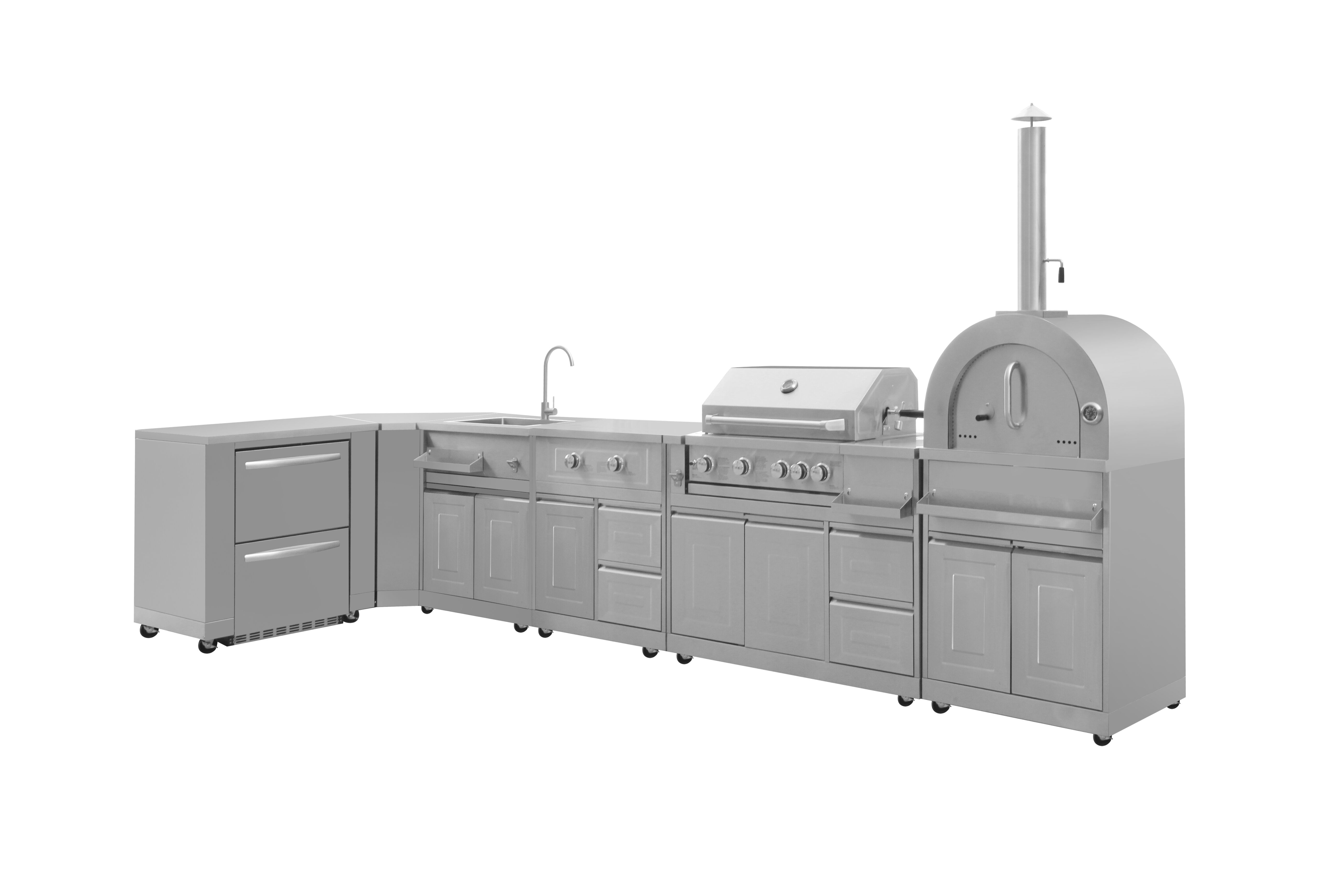 THOR Kitchen debuts pro-style 8-piece Modular Outdoor ...