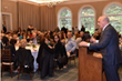 Frank A. Calamari, President & CEO, Calvary Hospital, speaking at the Hospital's Annual Spring Donor Appreciation Reception at the New York Botanical Garden.