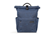 Tech Rolltop Backpack — blue waxed canvas, compact size
