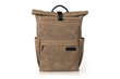 Tech Rolltop Backpack — tan waxed canvas, compact size
