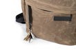 "Tech Rolltop Backpack — zippered pocket includes ""rain guard"" flap and handy key fob"