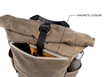 Tech Rolltop Backpack — top, easy-access pocket closes with invisible magnet