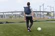 Tech Rolltop Backpack - at the soccer field