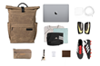 Tech Rolltop Backpack—combines work, travel, play