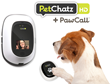 Pets can use the PawCall feature in PetChatz to interact with their owners.