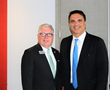 Richard Haggerty, left, CEO, Hudson Gateway Association of REALTORS® and president, New York MLS, and Keynote Joseph Rand, chief creative officer, Better Homes and Gardens Real Estate- Rand Realty.