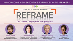 Obama Foundation's Valerie Jarrett, Reshma Saujani, founder of Girls Who Code and author of Brave, Not Perfect; Maggie Timoney, CEO at Heineken USA; and Suzy Whaley, president at PGA of America to deliver keynote sessions at NEW Executive Forum.