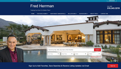 Homepage of Fred Herrman Real Estate Website by RealtyTech.com