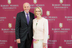 ICSW President Allan Hoffman and RMU President Mablene Krueger sign MOU to create a mutually beneficial degree pathway for students earning degrees in psychology and advanced study in Clinical Counseling and Psychotherapy.