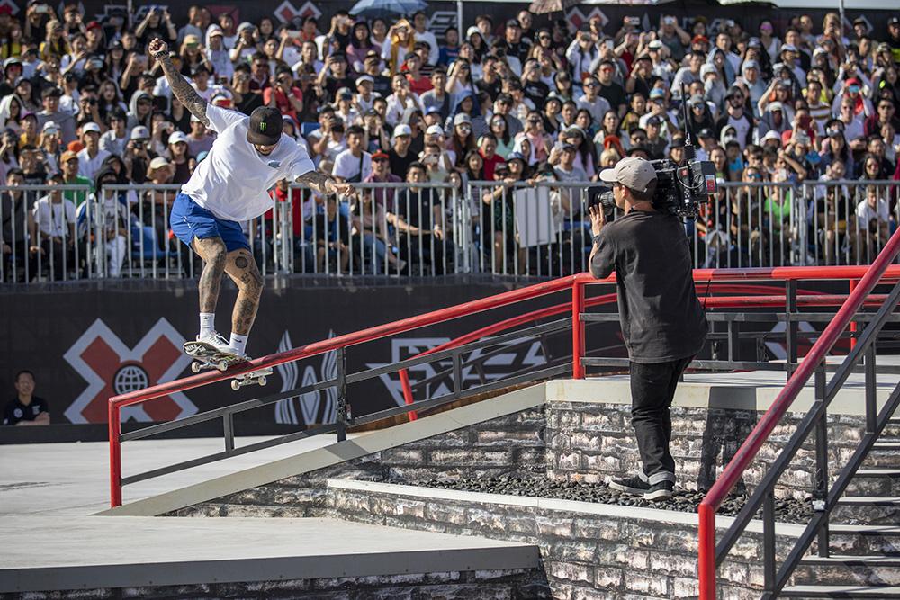 Monster Energy's Nyjah Huston Claims Gold in Skateboard Street and
