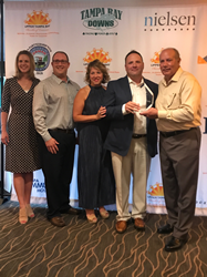 Sunbelt receiving award at Chamber of Commerce