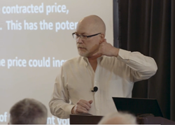 Presenter Dean Jenkins speaking at the Spring 2019 Power Trader Seminar