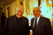 Msgr. Robert T. Richie, Rector of the Cathedral of Saint Patrick with Savoy Foundation President Joseph Sciame