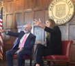 Dave Nassaney at Harvard Club of Boston with Caitlyn Jenner