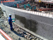 Waterproofing treatment: The local Penetron expert recommended PENETRON, a topically applied crystalline material, for the foundation slabs, retaining walls, water tanks, and elevator pits.
